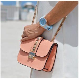 Peachy Small Studded Shoulder Bag